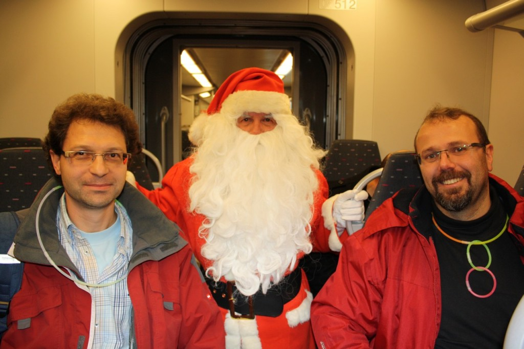Fred,Philippe et le Per Noel